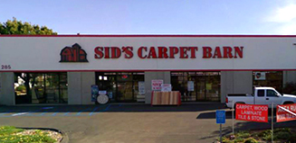 Sid's Carpet Barn storefront in San Marcos, CA